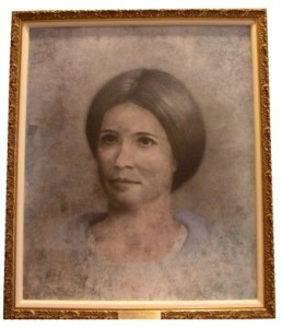 The portrait of Elizabeth Williams Mitchell that was unveiled at the 2011 Convention.