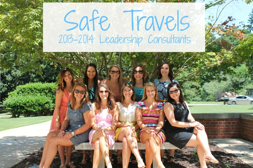 Safe Travels to our 2013-2014 Leadership Consultants