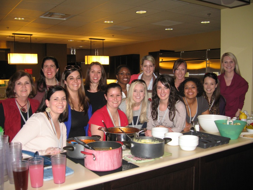 The Greater Atlanta Alpha Delta Pi Alumnae Association prepares dinner at RMH