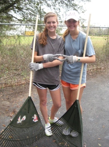 Iota-Florida State University chapter members volunteering on a service project.