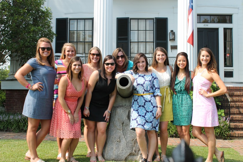 Hey that's us! The 2013-2014 Alpha Delta Pi Leadership Consultants during our trip to Macon, Ga.