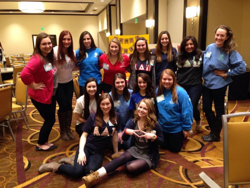 Here's the Zeta Upsilon chapter at District IV's Best Practices session.