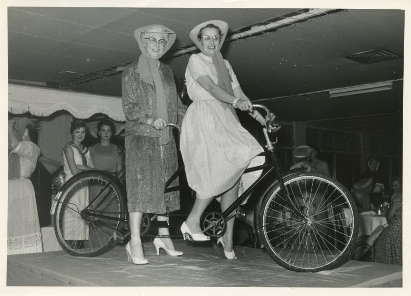 Van Akin and Lee bicycle built for two convention 1957